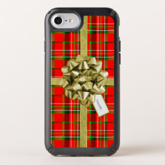 Christmas Present Wrapped in Tartan and Ribbons Speck iPhone Case