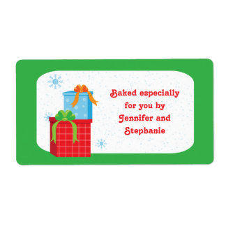 Baked goods tags shipping address return address for Homemade baked goods for christmas gifts