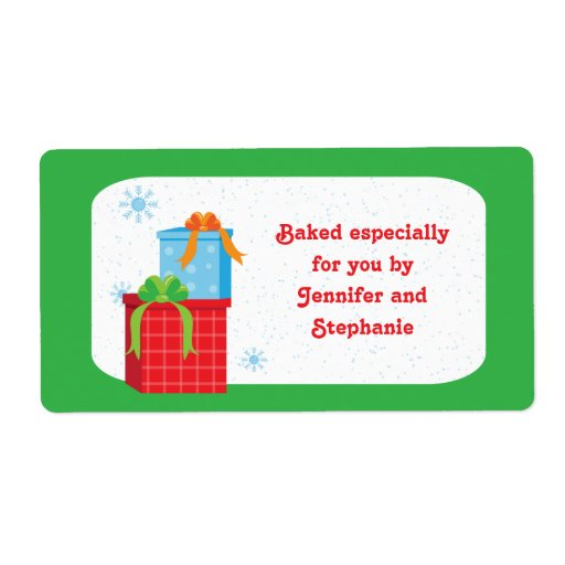 Christmas presents baked goods gift tag labels zazzle for Homemade baked goods for christmas gifts