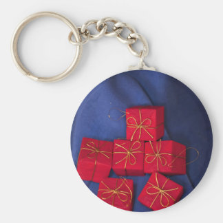 Christmas Presents Basic Round Button Keychain