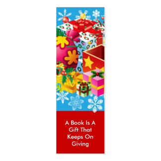 Christmas Presents Bookmark Mini Business Card