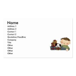 christmas presents boy tot business card