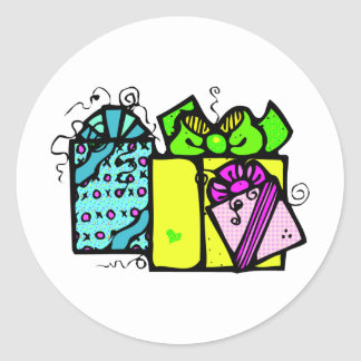 Christmas Presents Classic Round Sticker