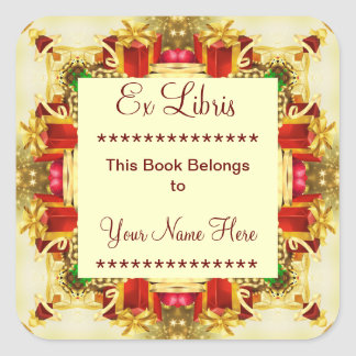 Christmas Presents Ex Libris Bookplate Stickers