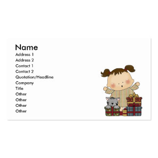 christmas presents girl tot business cards