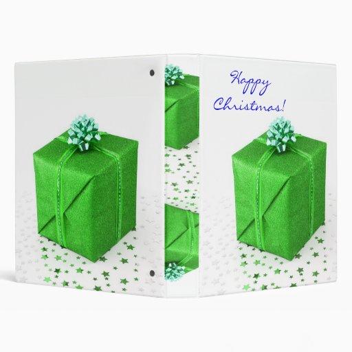 Christmas Presents Green In English Binder