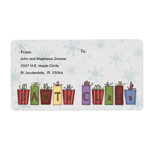 Christmas Presents Shipping Labels
