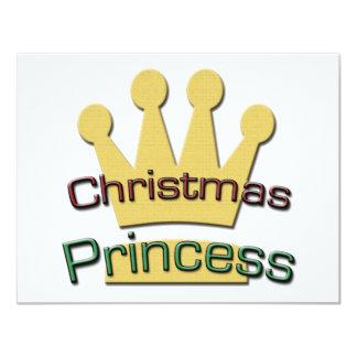 Christmas Princess 4.25x5.5 Paper Invitation Card