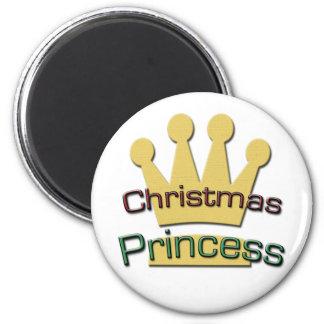 Christmas Princess 2 Inch Round Magnet