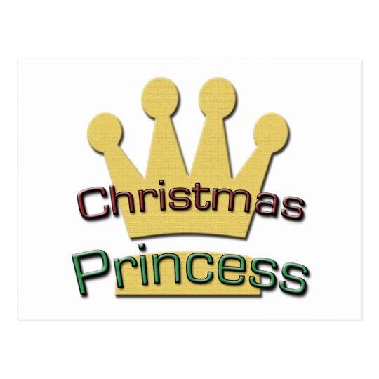Christmas Princess Postcard
