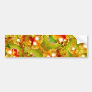 Christmas Print Motif Bumper Stickers