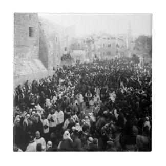 Christmas Procession in Bethlehem Tile