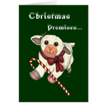 Christmas Promises Lamb for Family Greeting Card