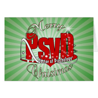 CHRISTMAS PsyD Doctor of Psychology Card
