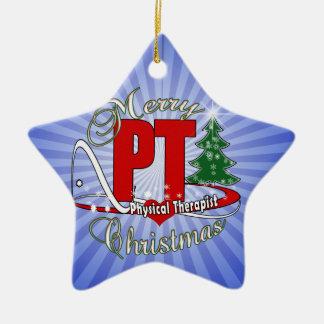 CHRISTMAS PT Physical Therapist Ceramic Ornament