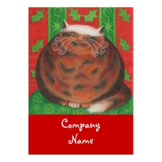 Christmas Pud business card template chubby