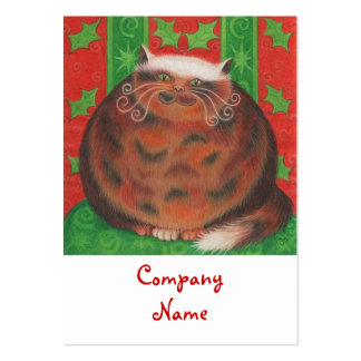 Christmas Pud business card template chubby white