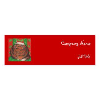 Christmas Pud business card template skinny