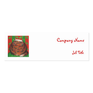 Christmas Pud business card template skinny white