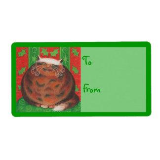 Christmas Pud gift tag label