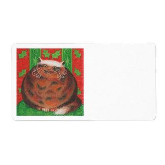 Christmas Pud gift tag label plain white