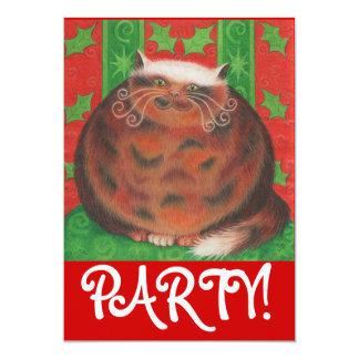 "Christmas Pud party invitation 5"" X 7"" Invitation Card"