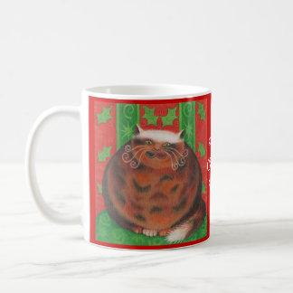 """Christmas Pud """"Purrfect Christmas wishes"""" mug"""