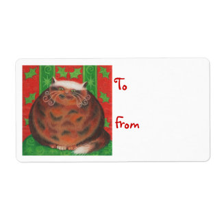 Christmas Pud 'To...From' gift tag label white
