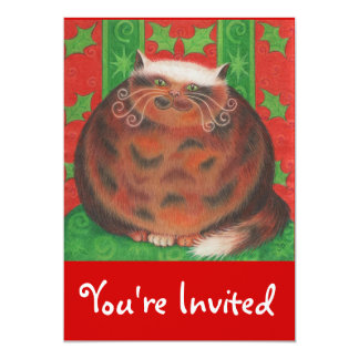 "Christmas Pud 'You're Invited' invitation 5"" X 7"" Invitation Card"