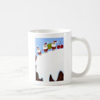 christmas pudding and santas.JPG Classic White Coffee Mug