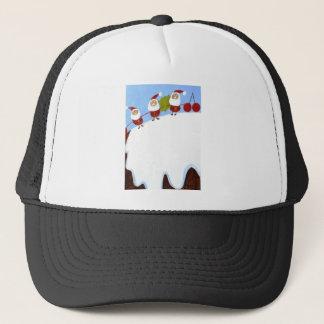 christmas pudding and santas.JPG Trucker Hat