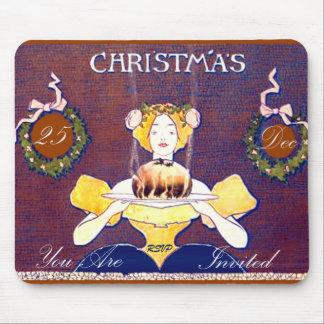 Christmas Pudding Christmas dinner goodies Mouse Pad
