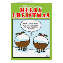 Christmas Pudding Cows Card