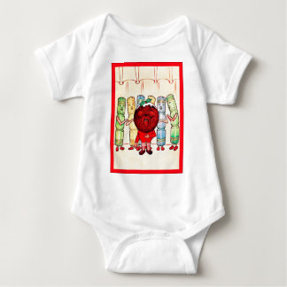 Christmas Pudding & Crackers ~ Vintage Christmas Baby Bodysuit