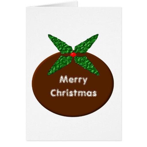 Christmas Pudding Custom Greeting Card