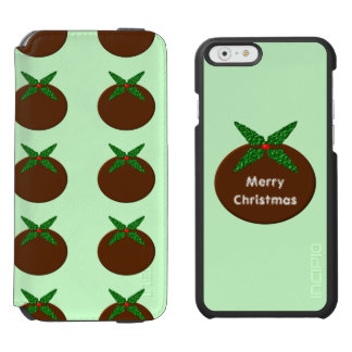 Christmas Pudding Custom iPhone Wallet Case