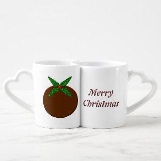 Christmas Pudding Customizable Mugs Couples' Coffee Mug Set