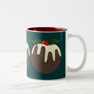 christmas pudding desert mug