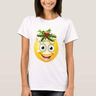 Christmas Pudding Emoticon Emoji T-Shirt