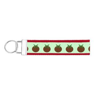 Christmas Pudding Keychain Wrist Keychain