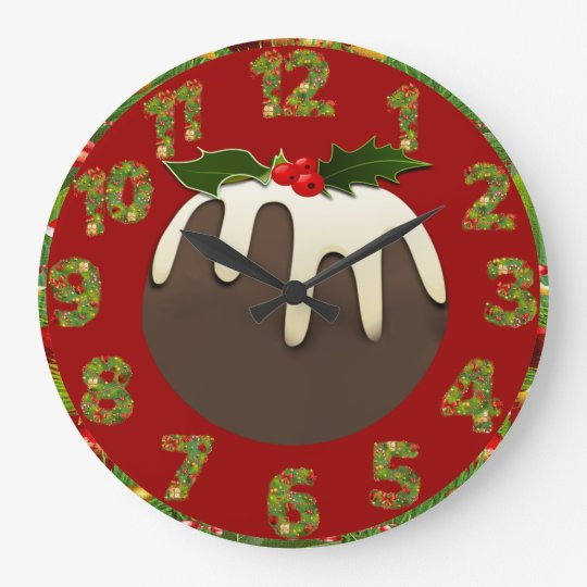 christmas pudding kitchen cooking clock
