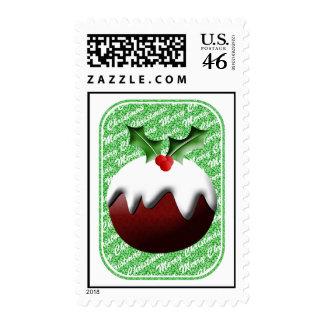 Christmas Pudding Postage Stamp