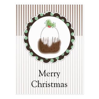Christmas Pudding Postcard