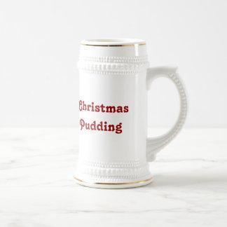 Christmas Pudding -- Traditional English Pudding 18 Oz Beer Stein