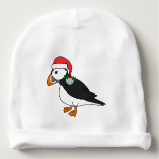 Christmas Puffin with Red Hat & Silver Jingle Bell
