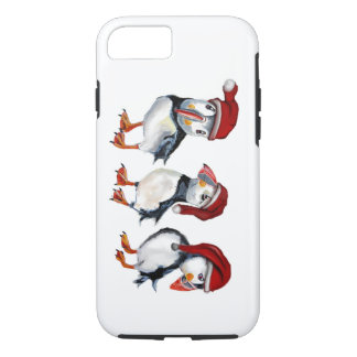 Christmas Puffins iPhone 8/7 Case