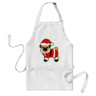 Christmas pug adult apron