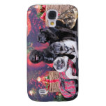 Christmas Pug Bruno Pearl Ms Wiggles - ChiPom Bear Samsung Galaxy S4 Case