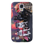 Christmas Pug Bruno Pearl Ms Wiggles - ChiPom Bear Galaxy S4 Case