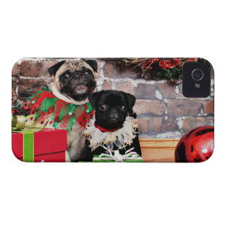 Christmas - Pug - Daisy Mae and Lily Lou Blackberry Bold Covers
